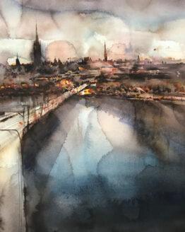 Björn-Bernström-Stockholm-akvarell- 47x57cm-11.000kr