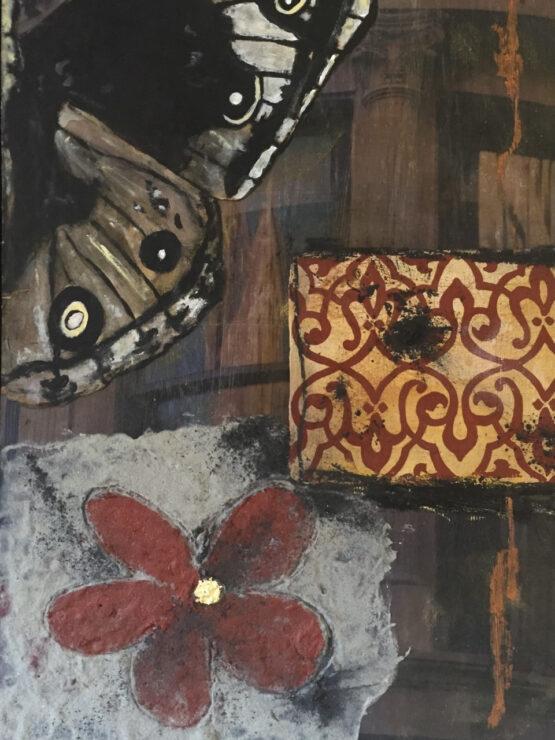Mats-Pehrson-Flower-and-Butterfly-Mixedmedia-40x30cm